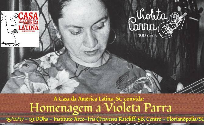 Casa da América Latina homenageia Violeta Parra