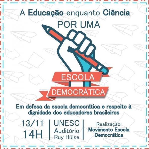 Criciúma – Escola sem partido: educadores contrários organizam encontros nesta segunda