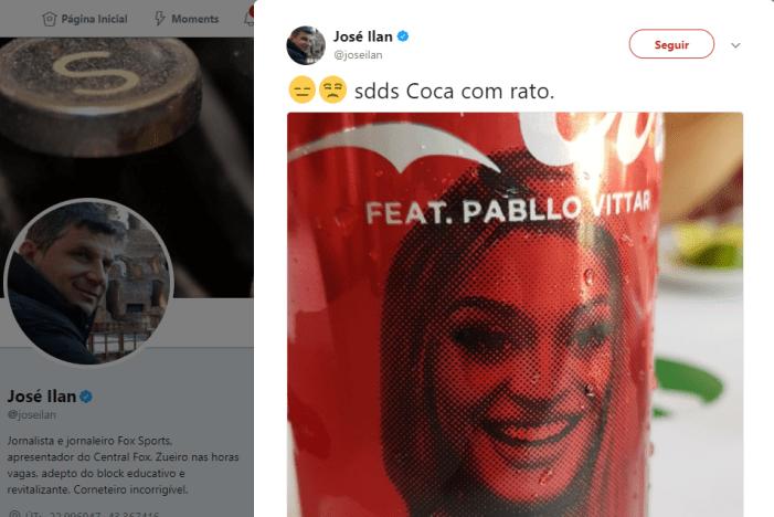 Jornalista da FOX Sports diz que prefere Coca-Cola com rato a Pabllo Vittar