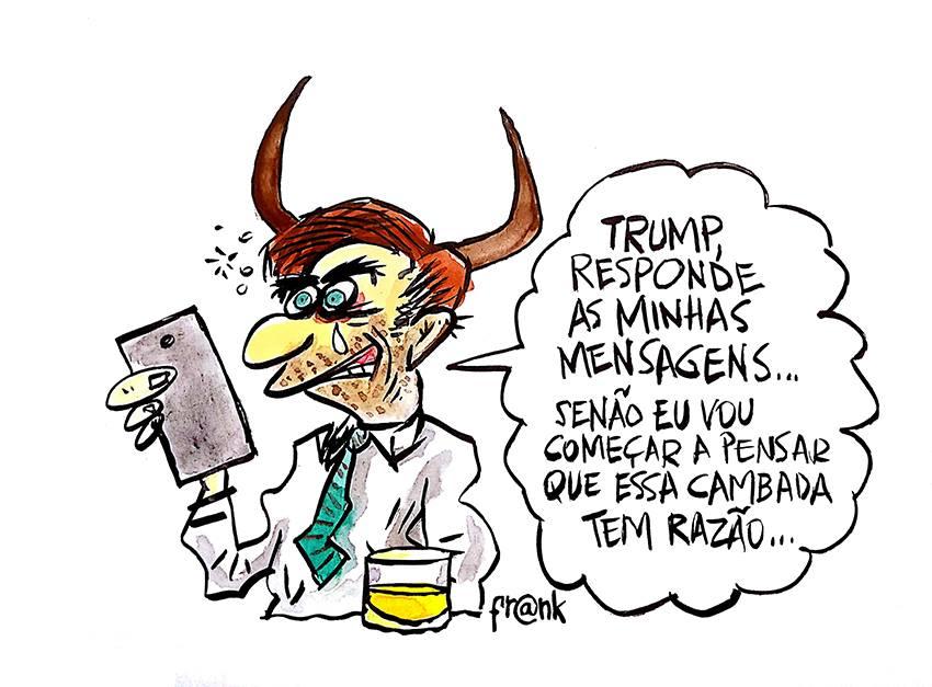 Monólogo Bolsonaro – Trump. A charge do Frank Maia | Desacato