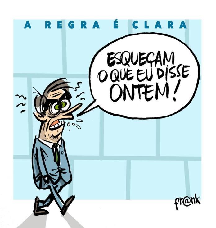 Regras claras do governo de Bolsonaro. A charge de Frank Maia | Desacato