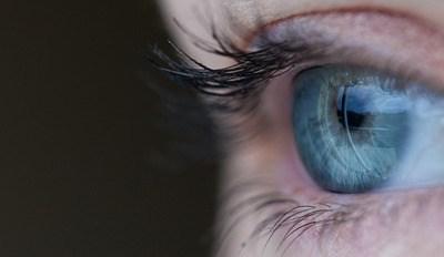 La mirada azul.