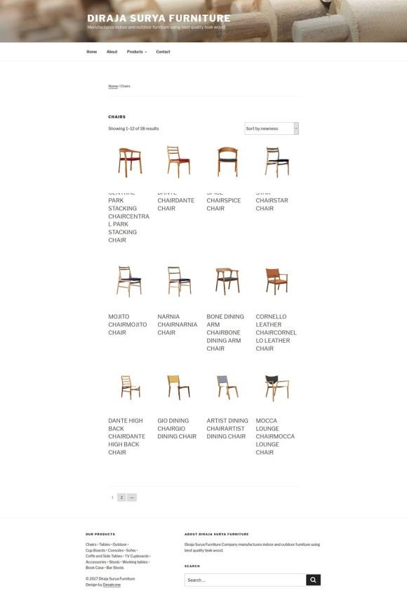 Diraja Surya Furniture Produk Chair