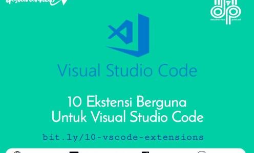 10 Ekstensi Visual Studio Code Untuk Produktivitas