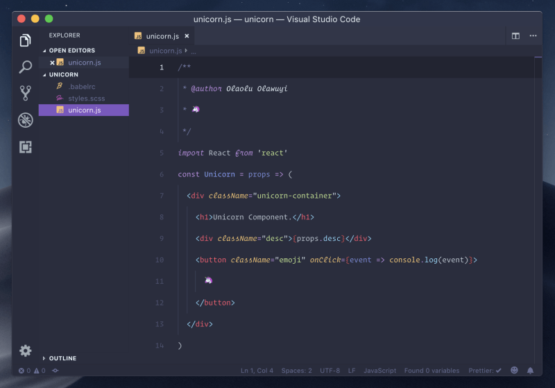 Palenight 8 tema terbaik visual studio code