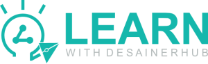Logo Learn With DesainerHub 2020 oleh Ahmad Zaki