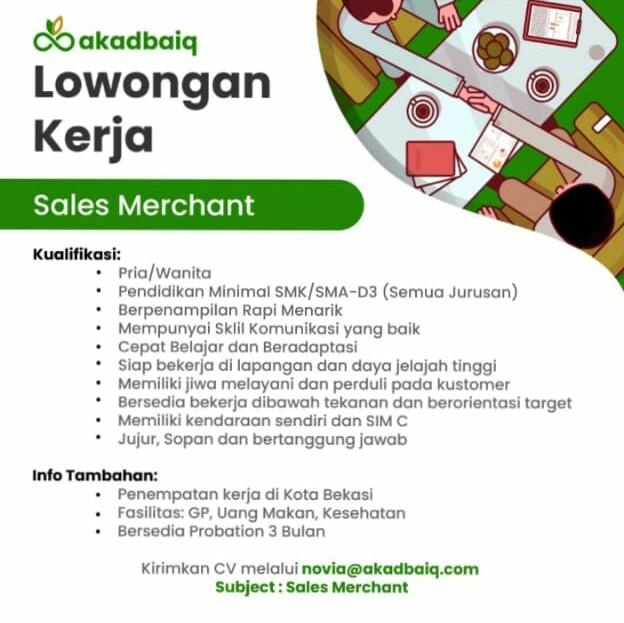Sales Merchant Akadbaiq