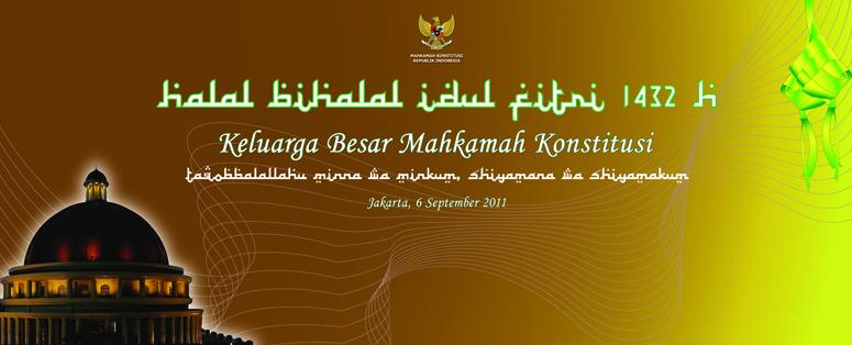 Backdrop Halal Bihalal Mkri Tahun 2011 Desain Grafis Bang Syawal