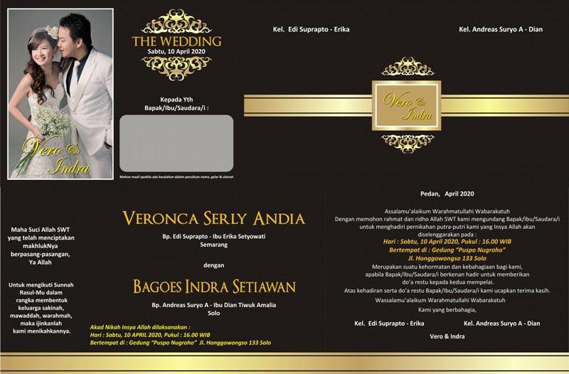 Desain Undangan Pernikahan Minimalis 085 200 880 480 Desain