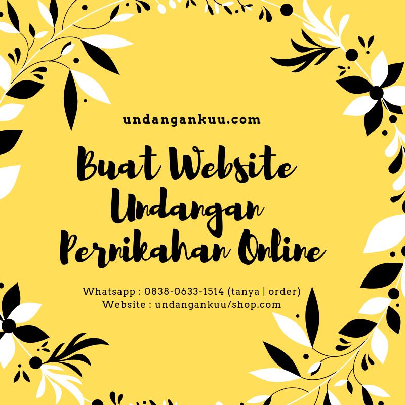 Undangan Pernikahan Online Website Undangan Pernikahan Online