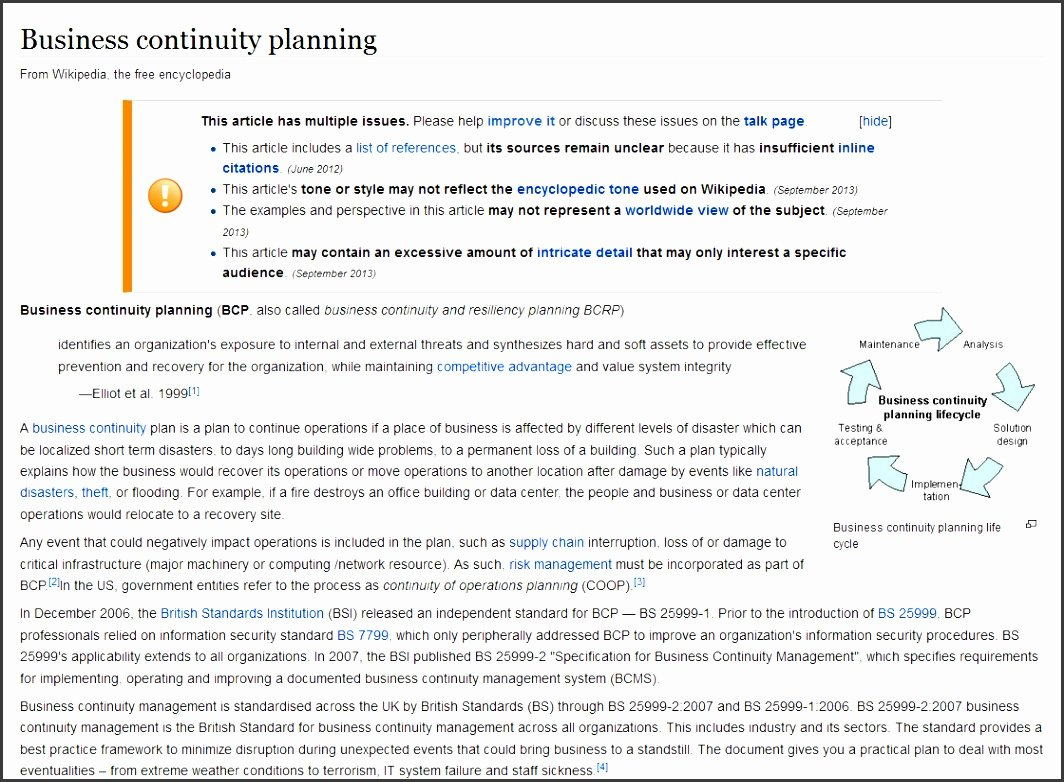 40 Business Continuity Plan Sample