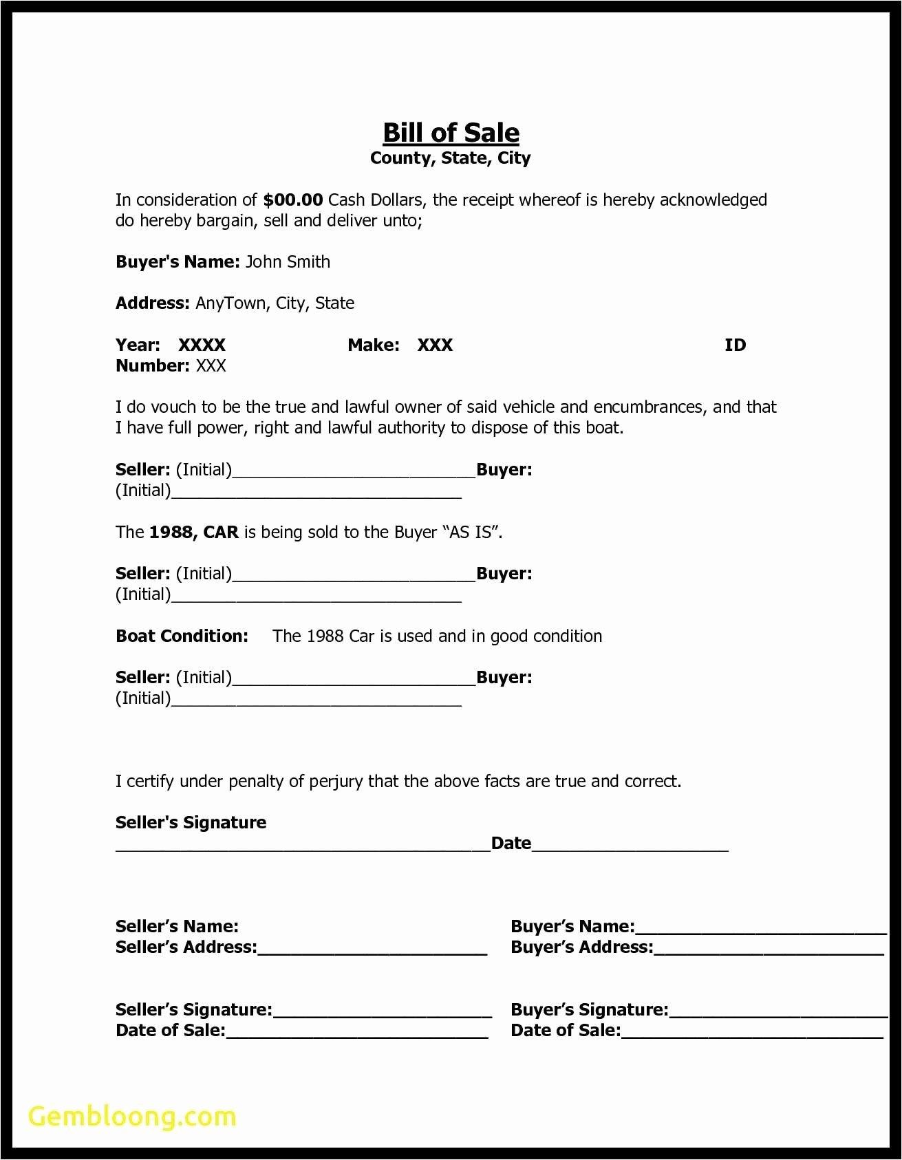 40 Car Sale Agreement Word Doc