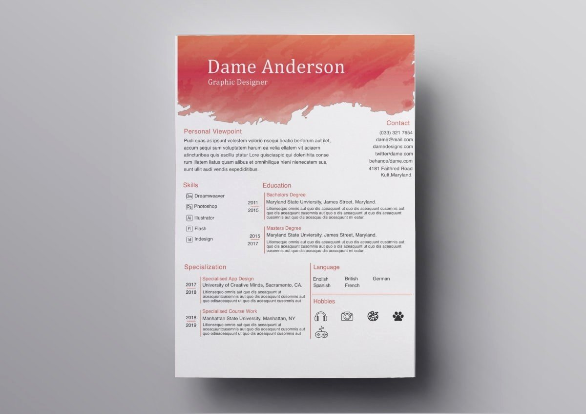40 Free Resume Templates For Mac