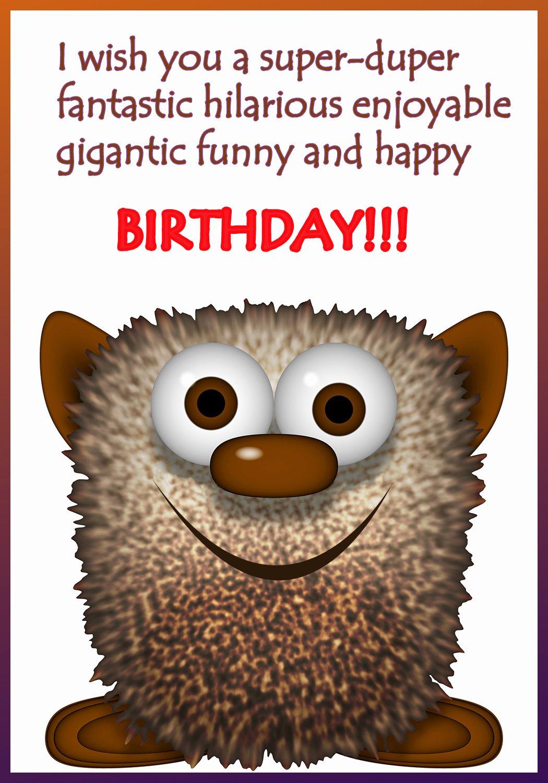 40 Printable Funny Birthday Cards