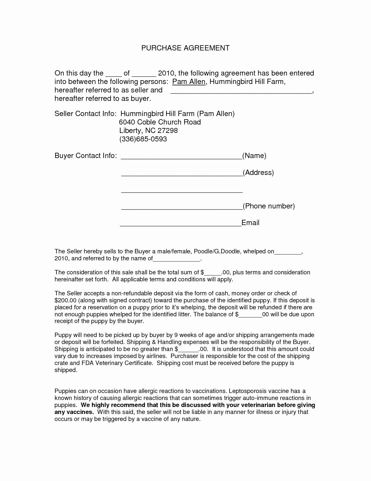 40 Printable Vehicle Purchase Agreement