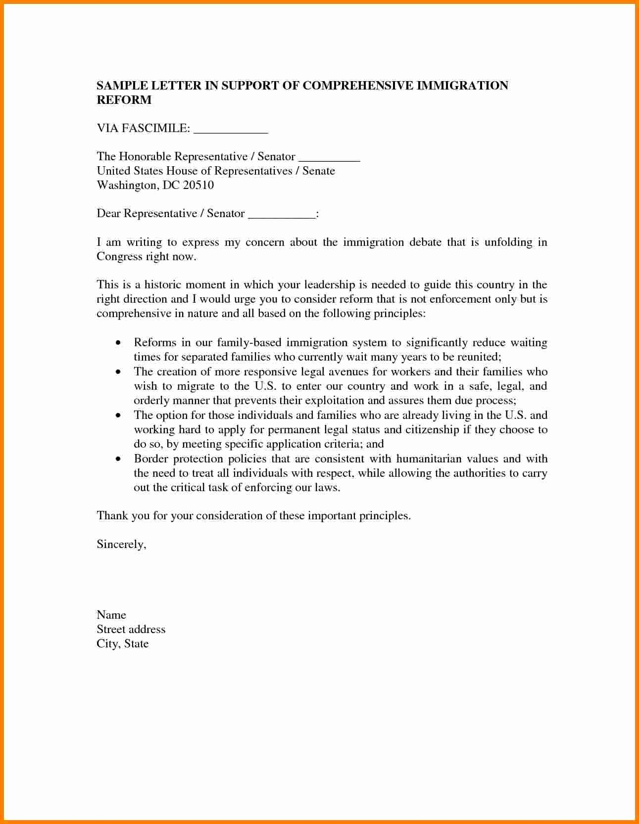 40 Support Letter Sample For Immigration