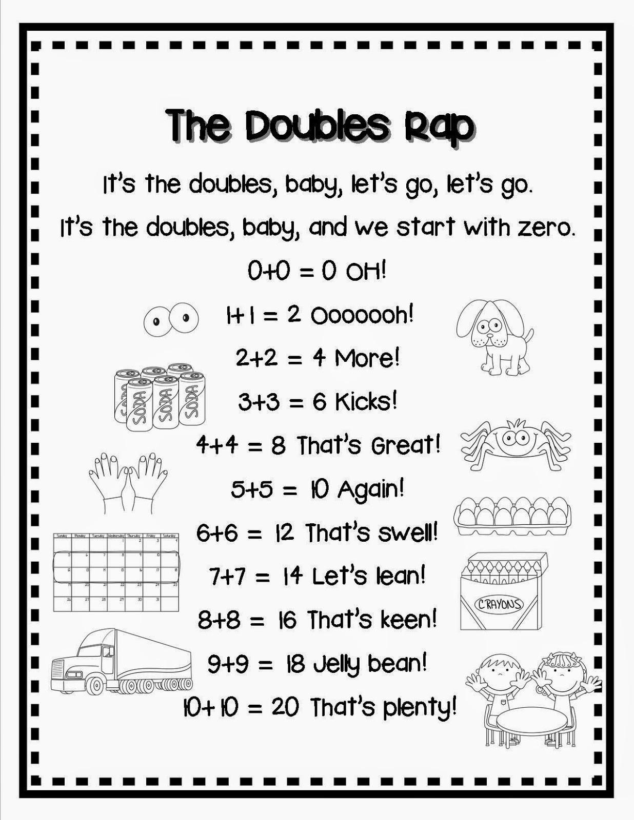 20 Doubles Rap Printable