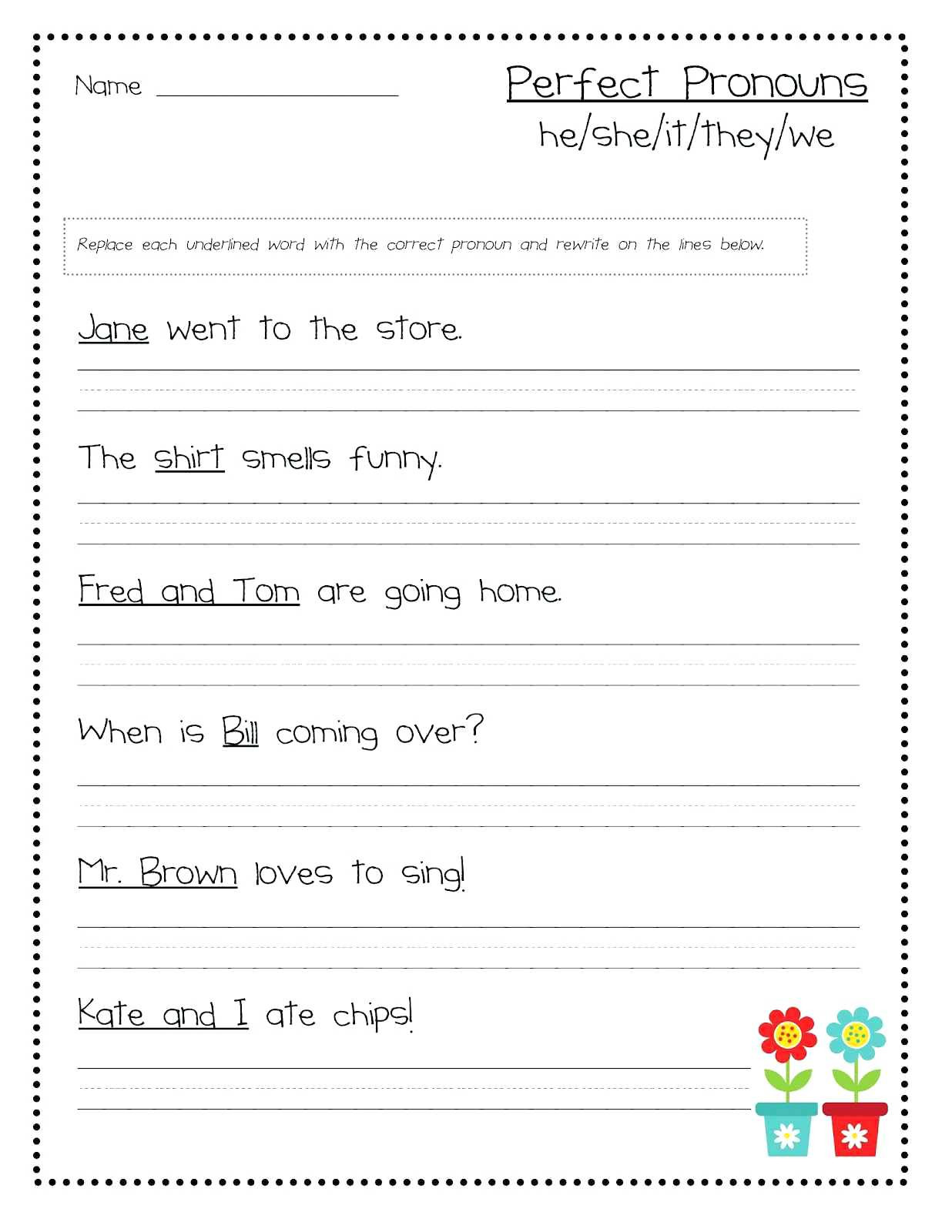 20 Grammar Worksheet First Grade