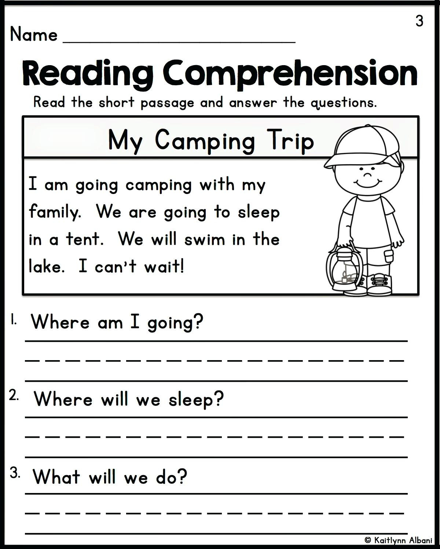 20 Kindergarten Reading Comprehension Worksheets