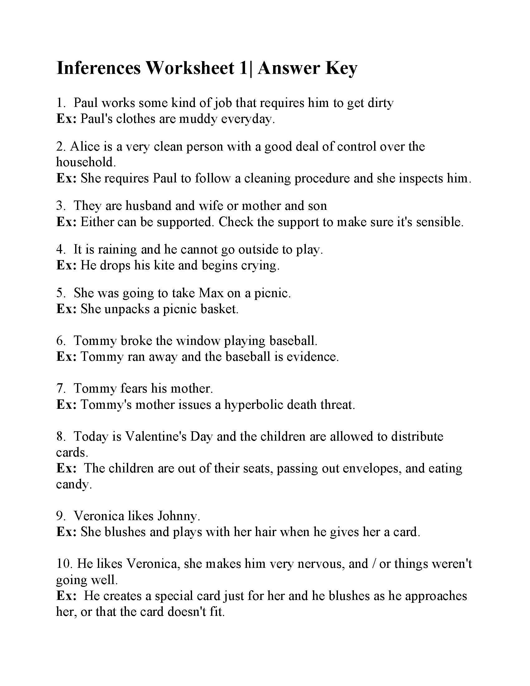 20 Inference Worksheets Grade 3