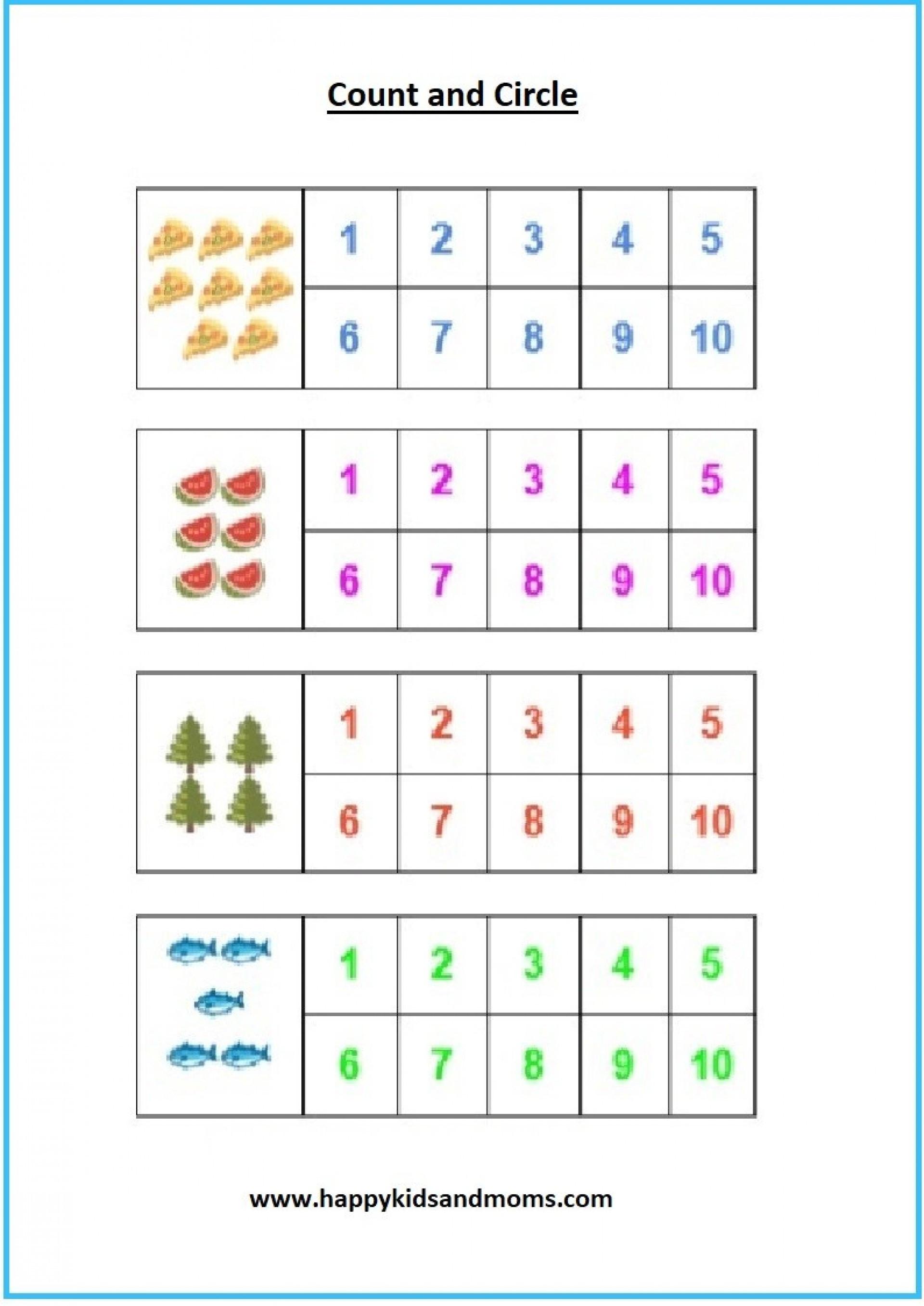 20 Kindergarten Math Worksheet