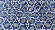 Délicates céramiques bleues