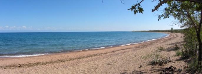 On a l'embarras du choix pour se baigner, cette plage de 5km de long fera l'affaire!