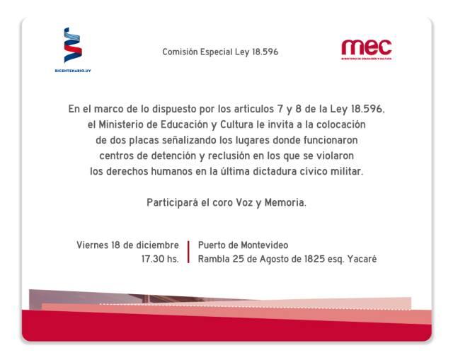 invitación placa Puerto Montevideo2