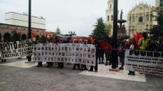 2014: Apoyo a los 43 estudiantes desaparecidos de Ayotzinapa en Saltillo.