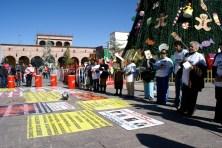 Diciembre del 2010: Marcha y manifestación en Plaza de Armas en Saltillo