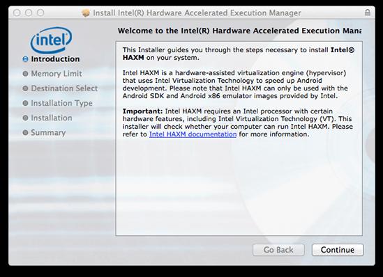Acelerar el Emulador con Intel Haxm