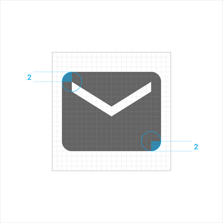 email icon material design