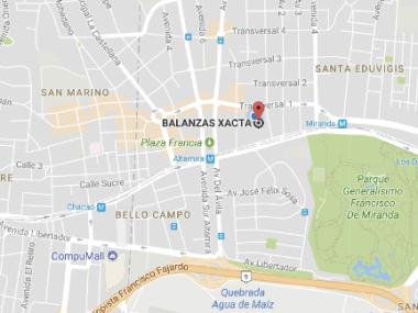 Mapa Xacta