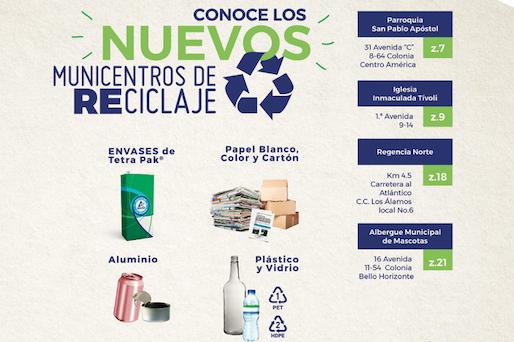 4 Nuevos Municentros de Reciclaje se suman  a la Ruta del Reciclado