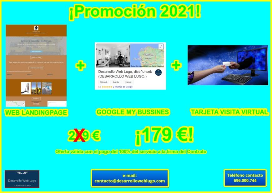 Promoción Web Landingpage 2021