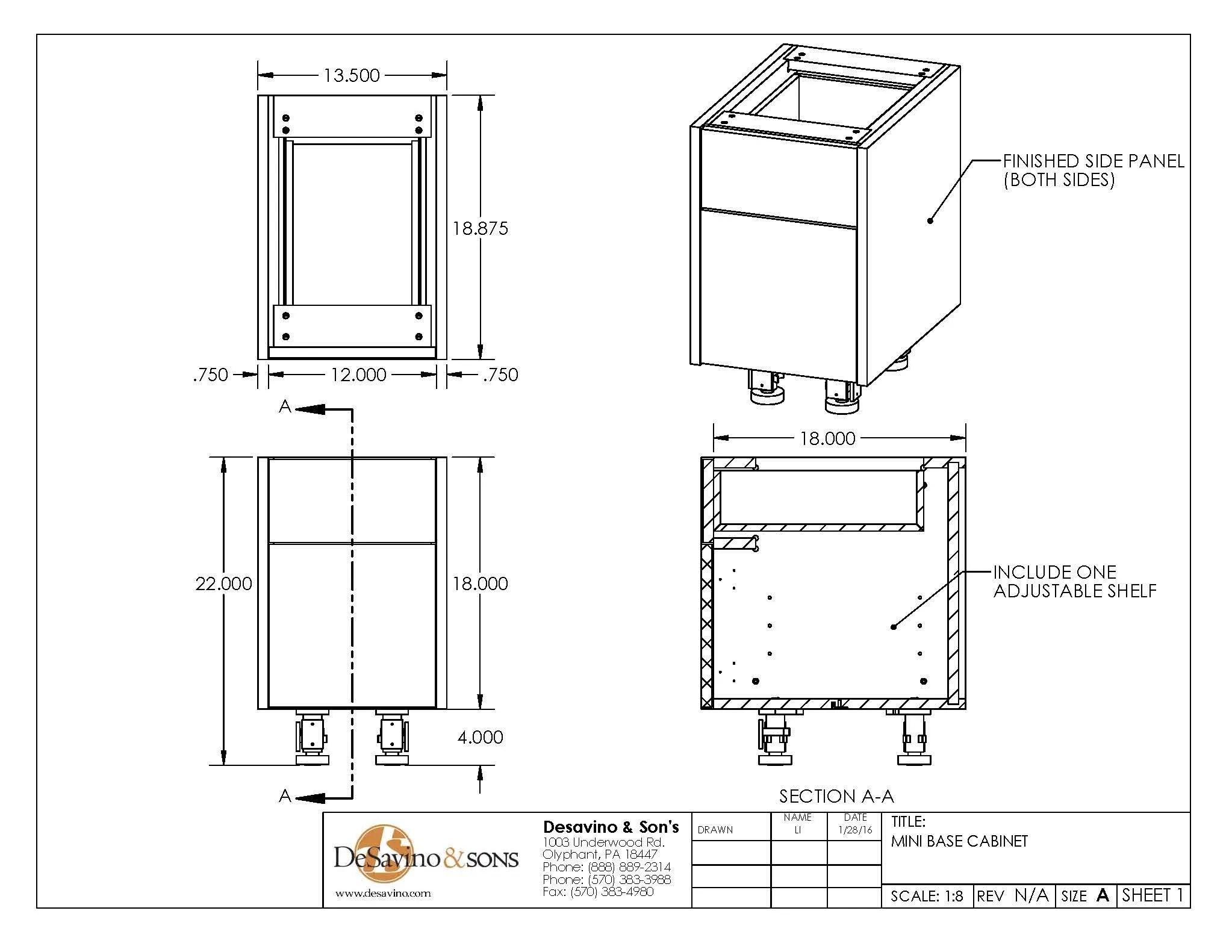 Mini Base Cabinet