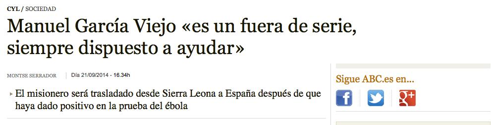 Cinco grandes cagadas de los medios sobre el primer contagio de ébola en España (1/5)