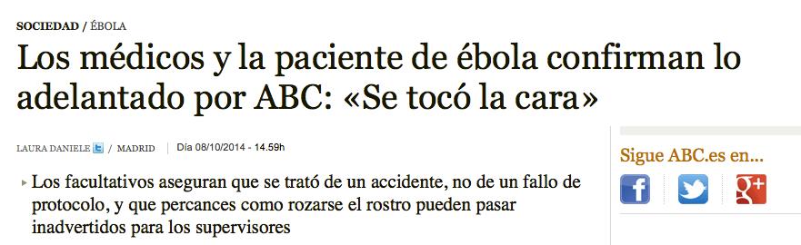 Cinco grandes cagadas de los medios sobre el primer contagio de ébola en España (2/5)