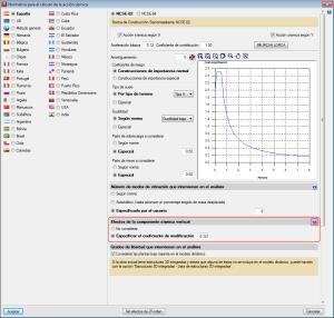 CYPECAD y CYPE 3D. Efectos de la componente sísmica vertical