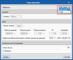 CYPELEC Networks. Importar cargas calculadas en CYPELEC Core, CYPELEC REBT o CYPELEC NF