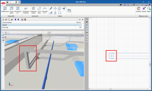 Open BIM Unex. Introducción directa de canalizaciones verticales entre canalizaciones a diferentes cotas