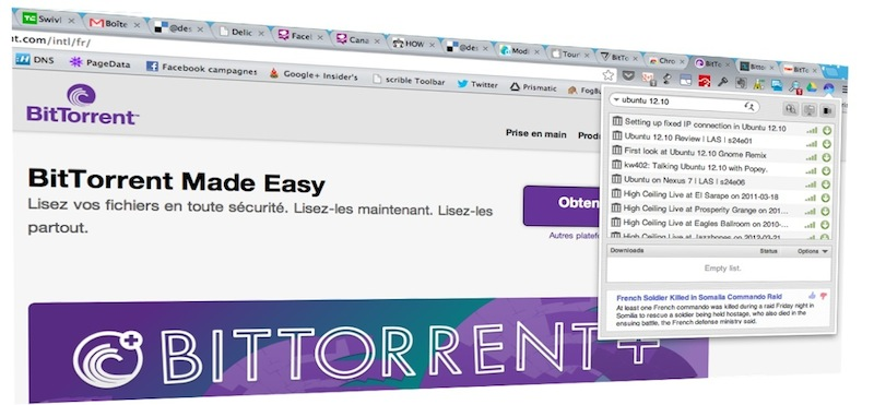 bittorrent surf google chrome descary Bittorrent dévoile Surf: un client torrent intégré à Google Chrome