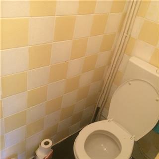 ouderwetse tegeltjes in de WC