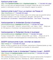kantoorruimte huren zoekopdracht op google