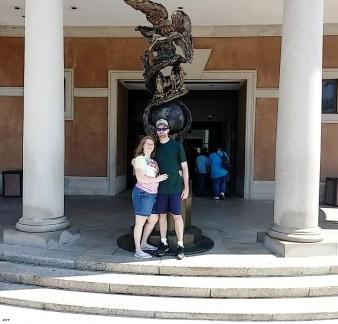 Keri and her husband at Arlington Cemetery, Washington DC