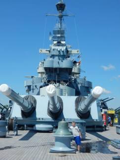 Justin visiting the USS North Carolina