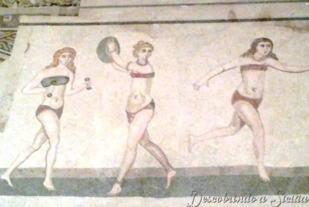 Alguém poderia imaginar que na Antiga Roma já se usava biquine?