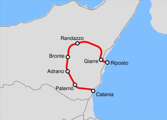 Percurso do trem da Circumetnea. Foto: Wikipedia