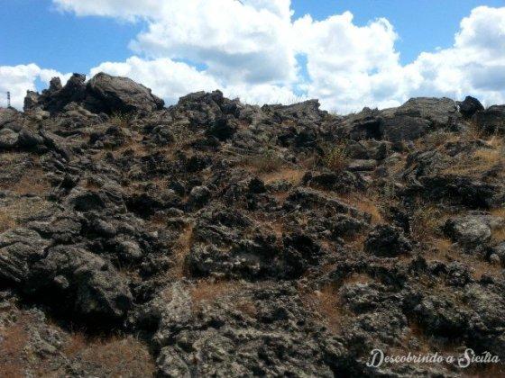 lava solidificada