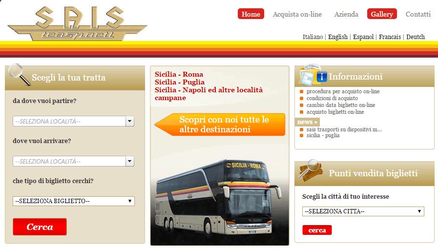 ônibus roma sicília